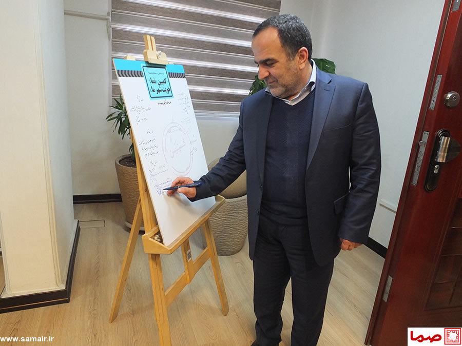 شهردار منطقه 13 تهران به کمپین «نما، هویت شهر ما» پیوست+عکس